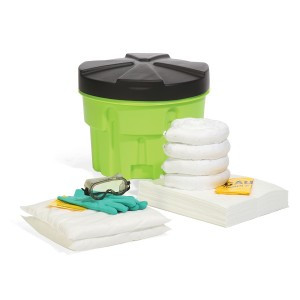 SpillTech Oil-Only 20-Gallon Hi-Viz OverPack Drum Spill Kit