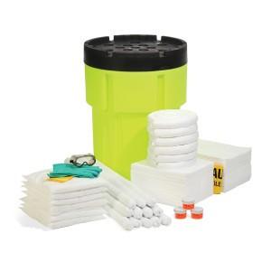 SpillTech Oil-Only 95-Gallon Hi-Viz OverPack Drum Spill Kit