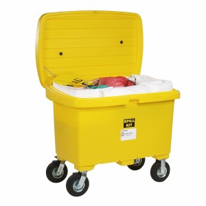 SpillTech Oil-Only Spill Cart Kit with 8in Wheels