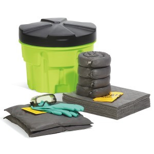 SpillTech Universal 20-Gallon Hi-Viz OverPack Drum Spill Kit
