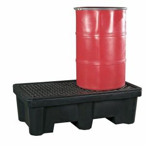 SpillTech 2-Drum Spill Pallet with Drain Plug