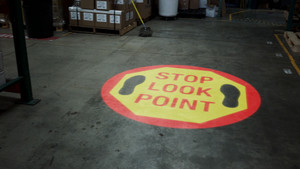 SignCast S300 Virtual Sign - Stop Look Point