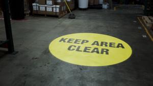 SignCast S300 Virtual Sign - Keep Area Clear