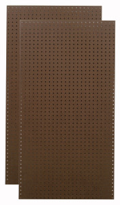 Brown Tempered Pegboards - (2) 24x48x1/4