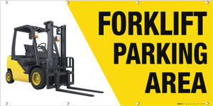 Forklift Parking Banner