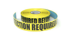 Ear Protection Required Beyond This Point - Inline Printed Floor Marking Tape
