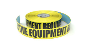 Personal Protective Equipment Required Beyond This Point - Inline Printed Floor Marking Tape