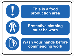 Food Production Area Floor Sign