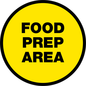 Food Prep Area Floor Sign (Round)
