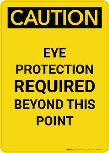 Caution: PPE Eye Protection Required Beyond This Point - Portrait Wall Sign