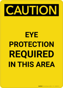 Caution: PPE Eye Protection Required in This Area - Portrait Wall Sign