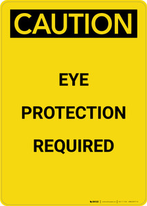 Caution: PPE Eye Protection Required - Portrait Wall Sign