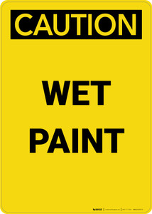 Caution: Wet Paint - Portrait Wall Sign