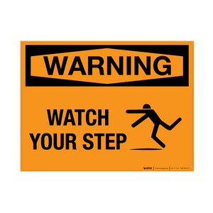 Caution mind the step Warning Stickers Marine Grade Material Weather Resistant