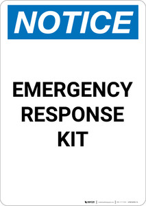 Notice: Emergency Response Kit - Portrait Wall Sign
