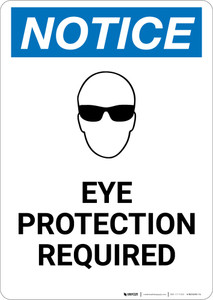 Notice: Eye Protection Required With Graphic - Portrait Wall Sign