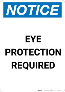 Notice: Eye Protection Required - Portrait Wall Sign
