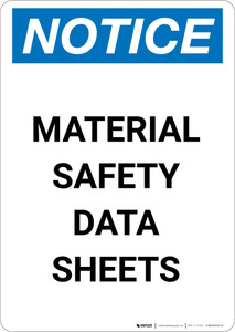 Notice: Material Safety Data Sheets - Portrait Wall Sign