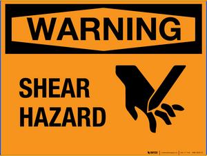 Warning: Shear Hazard - Wall Sign