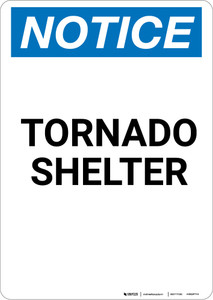 Notice: Tornado Shelter - Portrait Wall Sign