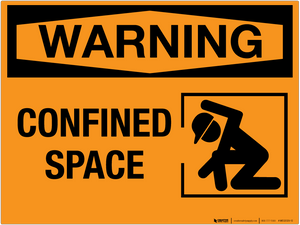 Warning: Confined Space - Wall Sign