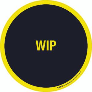 Work In Progress (WIP) Black Floor Sign
