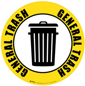 General Trash Icon - Floor Sign