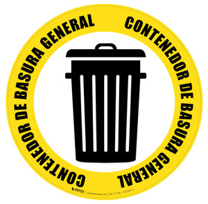 Contenedor de Basura General (General Trash Can) Icon - Floor Sign