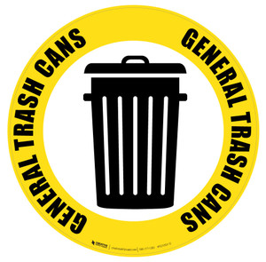 General Trash Can Icon - Floor Sign