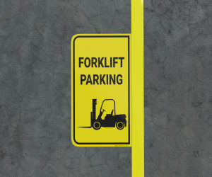 Forklift Parking - Floor Marking Sign