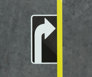 Right Turn Arrow  - Floor Marking Sign