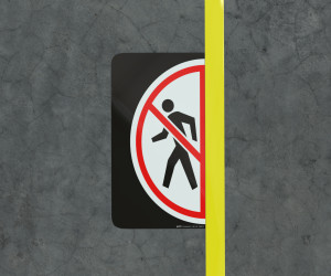 No Pedestrians - Floor Marking Sign