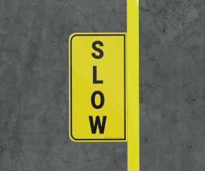 Slow - Floor Marking Sign