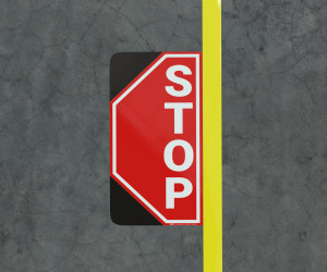 Stop - Floor Marking Sign
