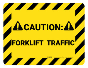 Caution Forklift Traffic Hazard - Floor Marking Sign