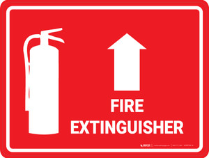 Fire Extinguisher Arrow Up - Floor Marking Sign