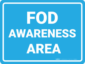 FOD Awareness Area - Floor Marking Sign