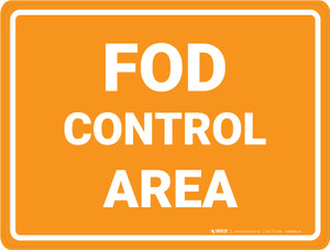 FOD Control Area - Floor Marking Sign