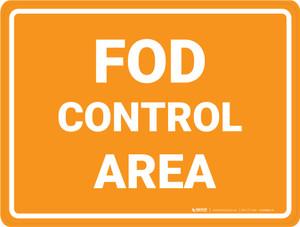 FOD Control Area - Floor Marking Sign