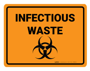 Infectious Waste Biohazard - Floor Marking Sign