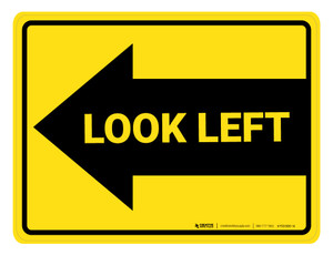 Look Left Arrow - Floor Marking Sign