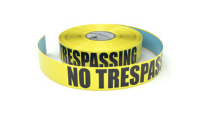 No Trespassing - Inline Printed Floor Marking Tape