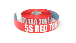 5S Red Tag Zone - Inline Printed Floor Marking Tape