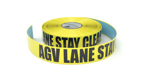 AGV Lane Stay Clear - Inline Printed Floor Marking Tape
