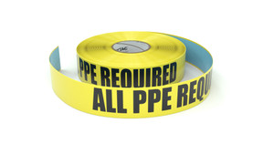 All PPE Required - Inline Printed Floor Marking Tape