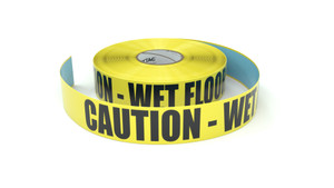 Caution - Wet Floor - Inline Printed Floor Marking Tape