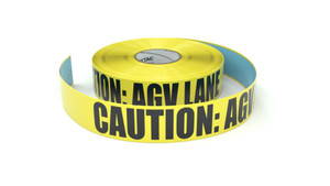 Caution: AGV Lane - Inline Printed Floor Marking Tape