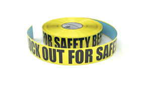 Caution: Lock Out For Safety Before You Start - Inline Printed Floor Marking Tape