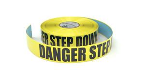 Danger Step Down - Inline Printed Floor Marking Tape