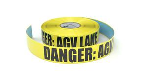 Danger: AGV Lane - Inline Printed Floor Marking Tape
